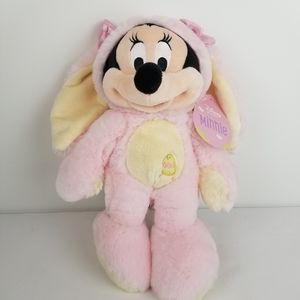 NWT Minnie Mouse Easter Bunny Pink/Yellow